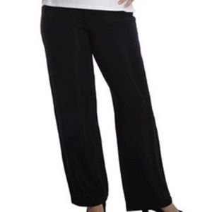 Susan Graver Lustra Knit Wide Leg Pull On Pants